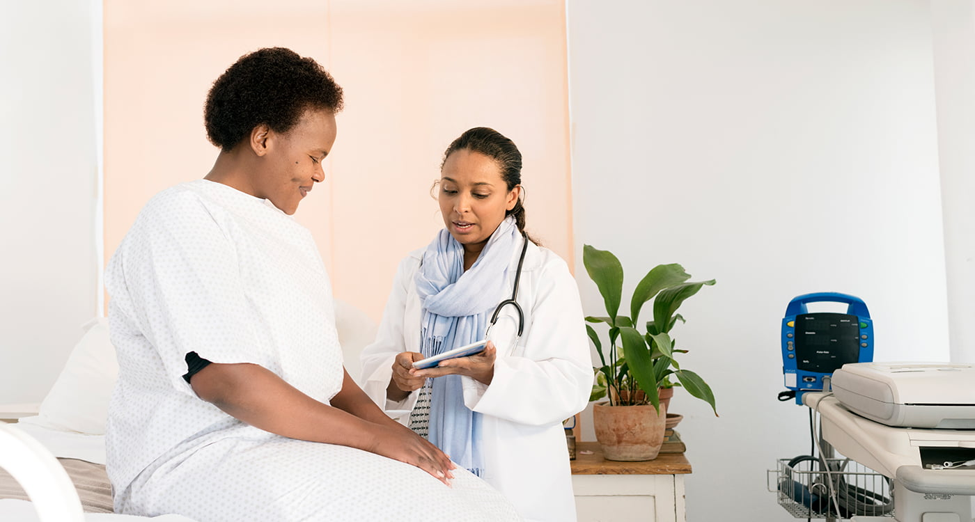 a patient getting information from their doctor